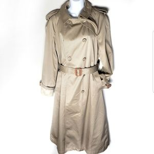 Evan Picone vintage lined trench coat size M/L